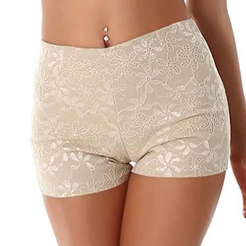 PF - Pantalón corto deportivo - Ajustada - para mujer beige 38 A 40