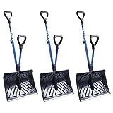 Snow Joe SJ-SHLV01 Shovelution Strain-Reducing Snow Shovel | 18-Inch | Spring Assisted Handle - 3 pack