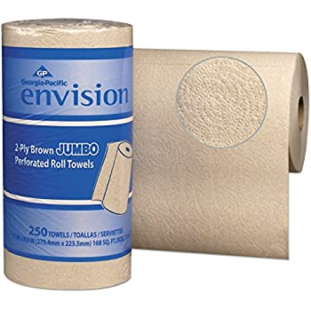 Georgia Pacific Professional 28290 Perforated Paper Towel, 11 x 8 4/5, Brown, 250 Per Roll (Case of 12 Packs)