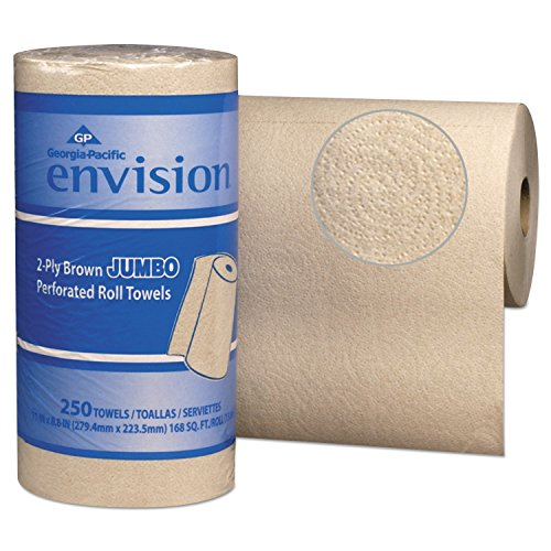 Envision Perforated Jumbo Paper Towel Rolls by Georgia Pacific Professional, 28290, 11 x 8 4/5, Brown, 250 Per Roll (Case of 12 ()