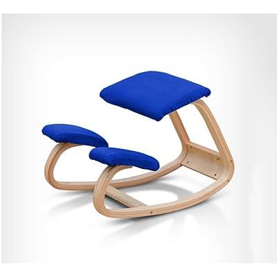 Chaise, bois massif Chaise ergonomique d'un fauteuil d'ordinateur Chaise de correction correcte Chaise de correction vertébrale Chaise de yoga Chaise à genoux Chaise étudiante Simplicité moderne en