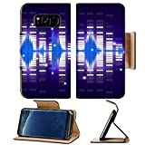 Liili Premium Samsung Galaxy S8 Plus Flip Pu Leather Wallet Case Sound waves set Music background Photo 12986112 Simple Snap Carrying
