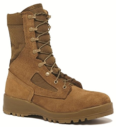 "Belleville 551 Steel Toe Coyote Tan 8"" Combat Boot, Made in USA, 14"