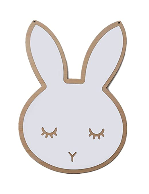 newEmergingstyle Wall Decor for Baby Room Kid's Bedroom Mirror Decoration Bunny Cloud Wall Mirrors (Rabbit,with Butterfly Gift)