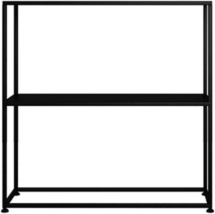 HANSHAN Mesa Auxiliar Mesa De Consola De Entrada, Gabinete De Porche Simple Gabinete Pequeño De Hierro Forjado Sofá Mesa Lateral Estante De Pared Estante Estante contra La Pared 2 Colores 23 × 9 × 23