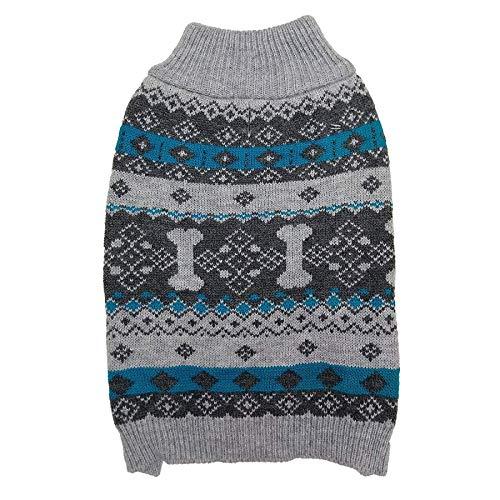 Fashion Pet Nordic Knit Dog Sweater - Gray (9 Pack)