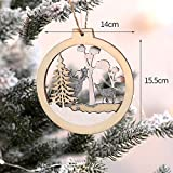 Zoilmxmen Christmas Wooden Pendant Home Decor Xmas Tree Pendant Party Christmas Tree Ornaments Xmas Gifts