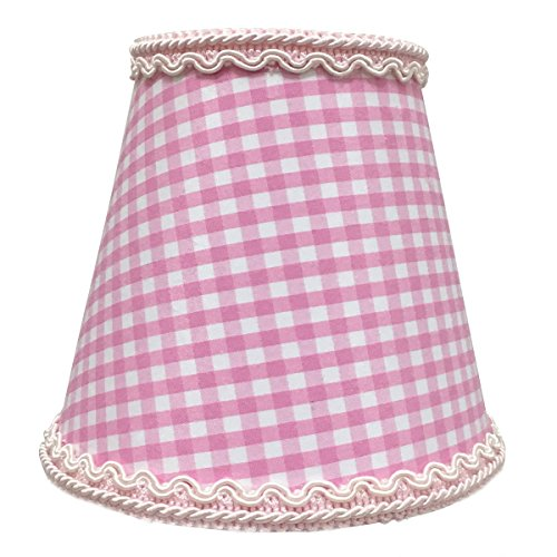(Royal Designs, Inc CSO-1043-5GO Gingham Empire Chandelier Lamp Shade with Decorative Trim - Clip-On, 3