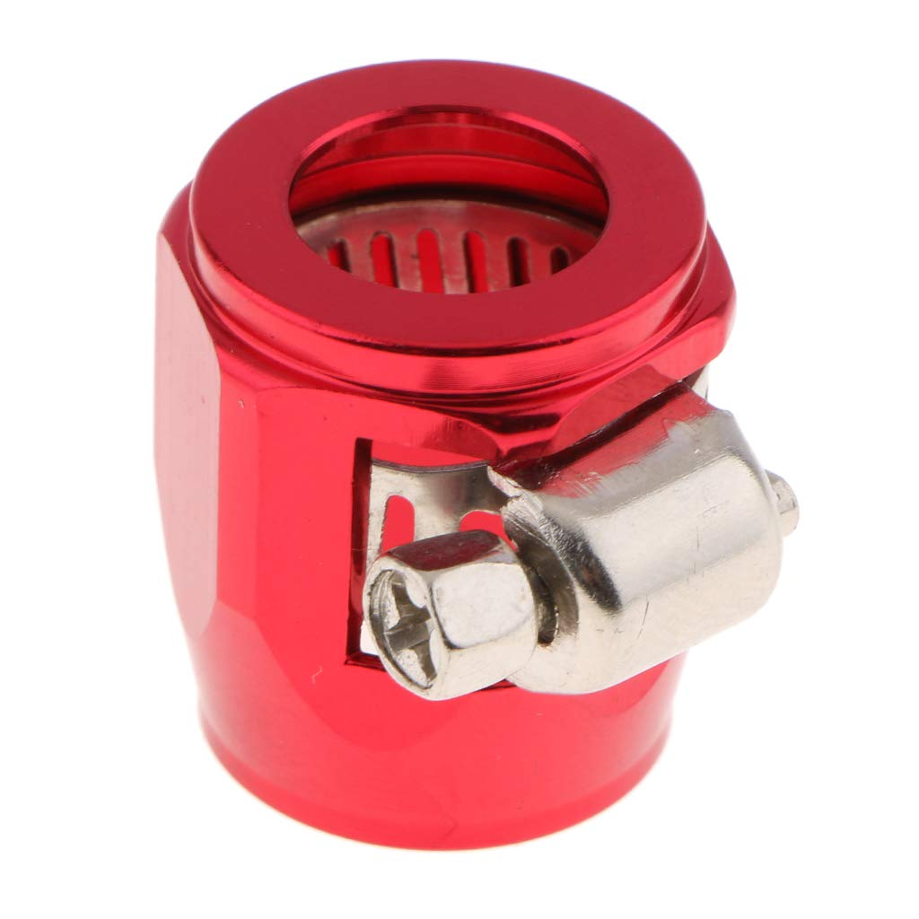 Flameer AN8 Red Fuel Hose Line End Cover Clamp Finisher Adapter Fitting Connectors
