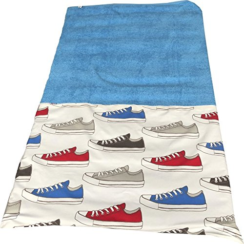 toalla playa zapatillas con nombre