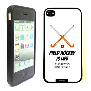 SudysAccessories Field Hockey Is Life The Rest Is Just Details Thinshell Protective Plastic iPhone 4 Case iPhone 4S Case