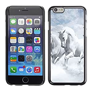 LOVE FOR iPhone 6 White Horses Sky Nature Clouds God Personalized Design Custom DIY Case Cover