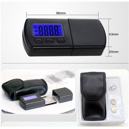 Signstek - Báscula digital para pesar agujas de tocadiscos (pantalla LCD)