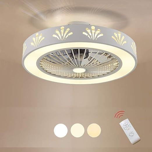 Lámparas LED de ventilador de techo, 48 W Control remoto redondo ...
