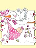 Rachel Ellen New Baby Girl Card