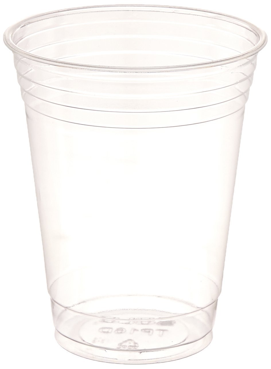 SOLO Cup Company Plastic Party Cold Cups, 16 oz, Clear, 100 pack by SOLO Cup Company