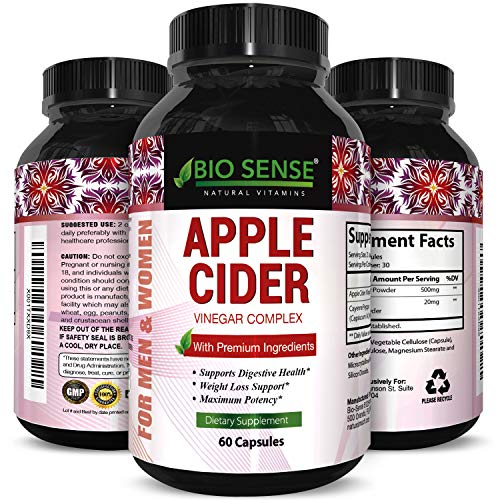 Apple Cider Vinegar Pills for Weight Loss - Extra Strength Fat Burning Supplement - Pure Detox Cleanse & Digestion Support - Natural Apple Cider Vinegar Capsules for Men & Women (Best Apple Cider Vinegar Pills For Weight Loss)
