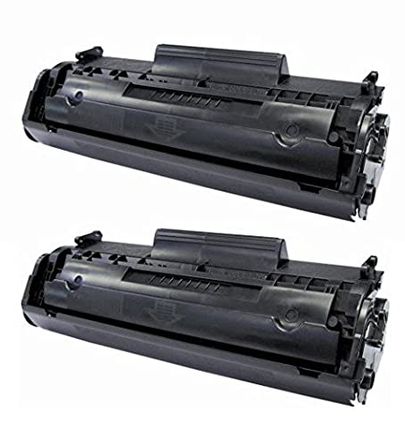 2 PACKS - Remanufactured HQ Black Toner Cartridge Compatible with CANON 104 CRG104 FX9 FX10 & HP Q2612A 12A- D420 D480 MF4150 MF4270 MF4350 MF4370 MF4690 L90. HP 1018 1020 M1120 3015 3020 3030 3050 3055