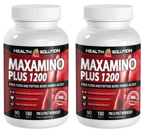 L lysine l arginine l carnitine - MAXAMINO PLUS 1200 - increase energy (2 Bottles)