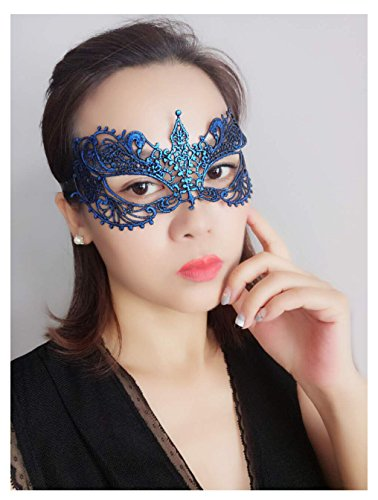 Masquerade Ball Costume Ideas For Women (Lace Eye Mask Masquerade Costume - Sexy Party Prom Ball Halloween Black Womens Girls Soft & Changable Shape)