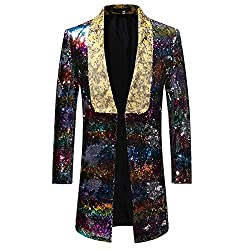 Men's Slim Fit Shiny Sequin Suit Jacket