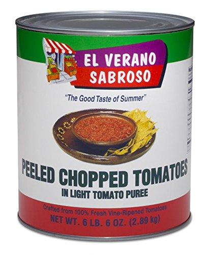 (El Verano Sabroso Peeled Chopped Tomatoes in Lite Puree (6.6lb Can))