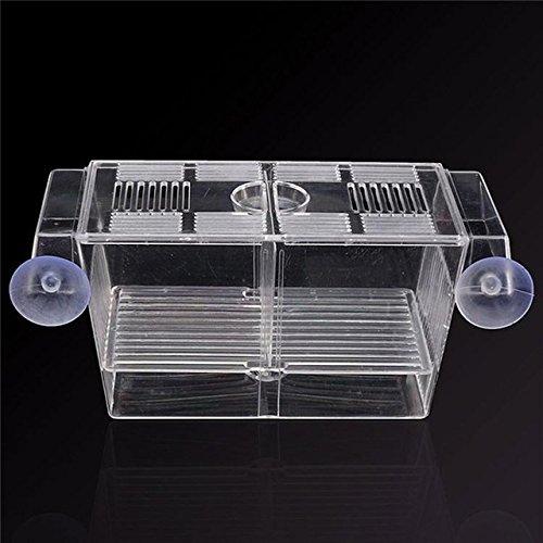 Acrylic Aquarium 3 In1 Suspension Breeding Hatchery Isolation Box With 2 Layers Incubator Fishbowl For Guppy Betta-fish   White, 20x10x10cm