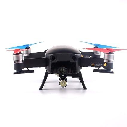 Landing Skid Gear Drone patas Ruedas con luz LED para RC DJI Mavic ...