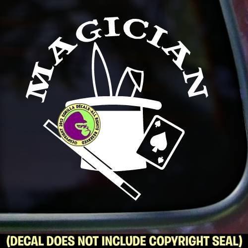 MAGICIAN Magic Vinyl Decal Sticker A
