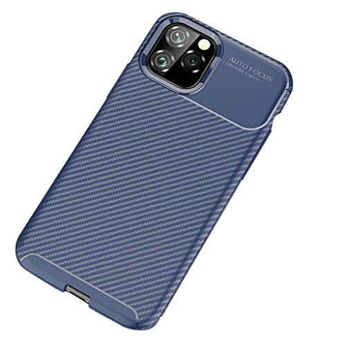 Roisay Compatible with iPhone 11pro mAX 6.5inch Thin Carbon+TPU Silicone Fibre Soft Protection Case,Dynamic Aesthetics,Soothing Texture,Anti-Drop and Shock (Iphone App To Forward Calls And Texts)