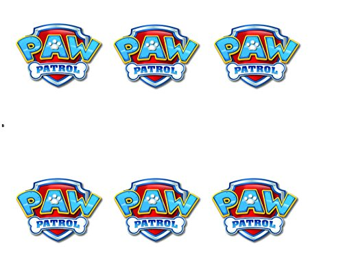 Paw Patrol Logo Sheet Edible Photo Birthday Cake Topper Frosting Sheet Party for 3 inch Round for CupCake/Cookie (Edible Photo Cookies)