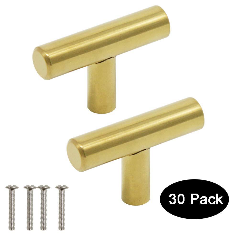160 mm Poignee de Meuble Laiton 9 tailles : 50 mm 96 mm Probrico barre de porte boutons de portes en T pour meubles de cuisine 256 mm 64 mm 128 mm acier inoxydable 76 mm 224 mm 192 mm