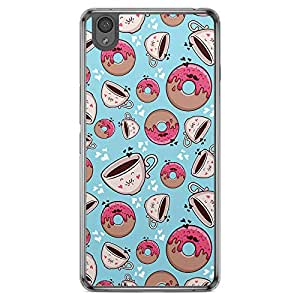 Loud Universe Oneplus X Bakery Donuts and Coffee Printed Transparent Edge Case - Multi Color