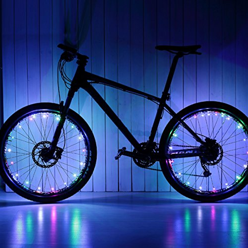 VORCOOL LED Bike Wheel Lights, Super Cool Lights Brilliant Bicycle Wheel Light String,USB Rechargeable Battery (1 Tire Pack) by VORCOOL (Image #7)