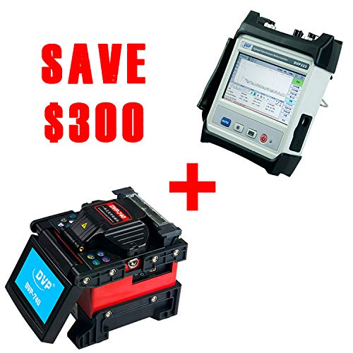 Fiber Optic Fusion Splicer Machine Kit(7s Splicing, 18s Heating) and OTDR Tester(34dB/32dB, 1310nm/1550nm with VFL&OPM)