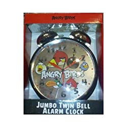 Angry Birds Jumbo Twin Bell Alarm Clock