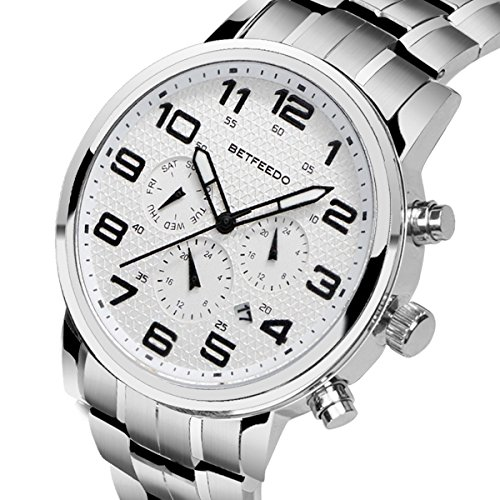 mens white dial luxury watches - 6