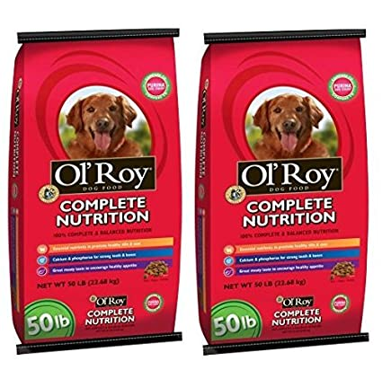 Amazoncom Ol Roy Complete Nutrition Dog Food 50 Lb Pack Of 2
