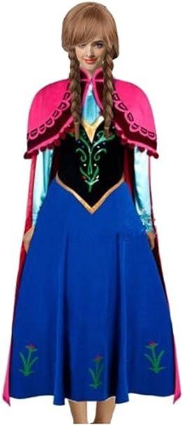 Amazon.com: goodsaleok Anna Cosplay disfraz de vestido de ...