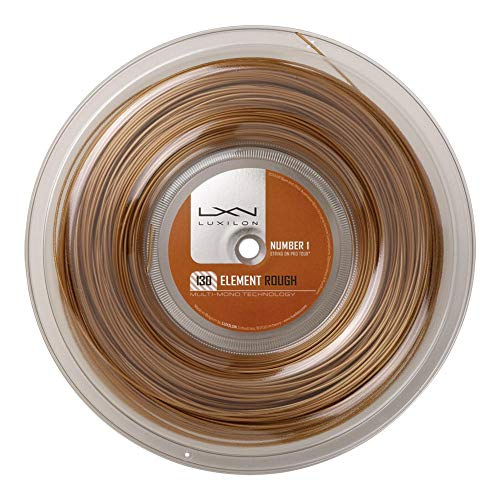 Luxilon Reels - Luxilon Element Rough 1.30/16G Tennis String Reel Bronze-(WRZ990730R)