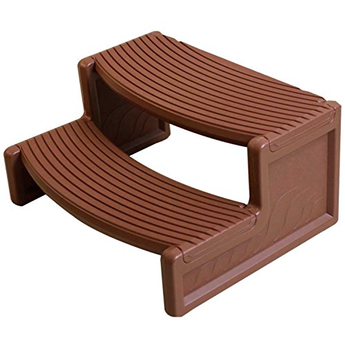 G&GOnline Mahogany Resin Handi-Step for Spa and Hot Tubs