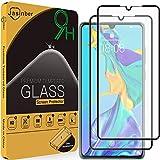Jasinber 2-Pack Mica Vidrio Cristal Templado Protector de Pantalla para Huawei P30 (Negro)