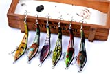 Dorisea Fishing Lure Hard Bait VIB with Treble Hook Life -Like Swimbait 6Pcs/Lot 3.74in 0.31oz