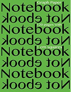 Graph Paper Notebook 120 pages with 1 cm squares: 8.5 x 11 inch notebook with