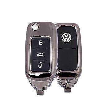Funda para Llave de 3 Botones para Coche VW Skoda Seat ...