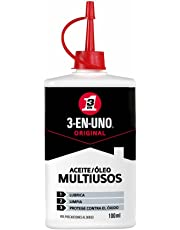 3 EN UNO 3-EN-UNO Aceite lubricante en gotero / aceitera 100ml. Lubrica, afloja y protege del óxido.