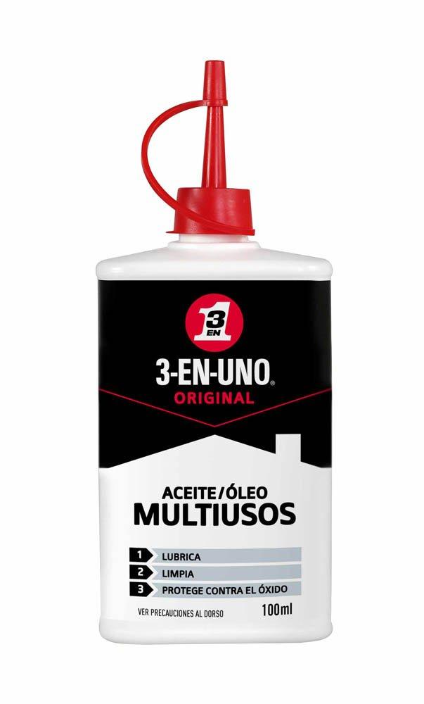 3 EN UNO 34059 - Gotero lubricante, para limpieza y protección (100 ml)
