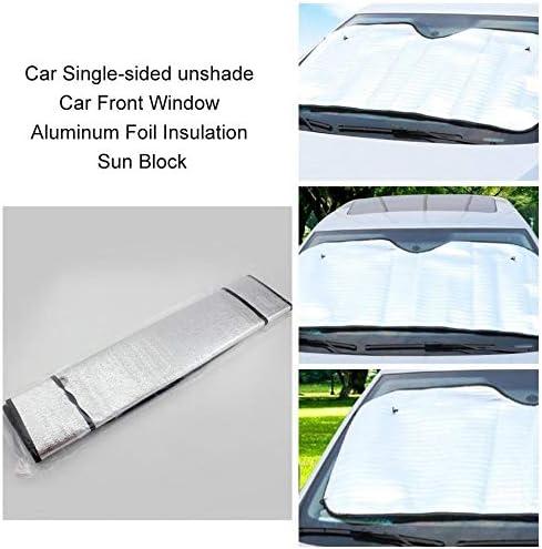 ClookYuan Pare-Soleil Simple Face Pare-Soleil pour Voiture Couverture Pare-Brise pour fen/être en Aluminium Aluminium Pare-Soleil Argent