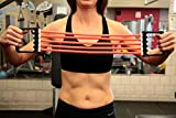 Heavy Exercise Bands - Best Chest Expanders for Men and Women by Run Baby Sport (Red Exercise Bands)