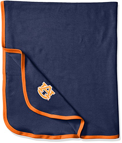 (Two Feet Ahead NCAA Auburn Tigers Infant Blanket, One Size, Navy/Orange)